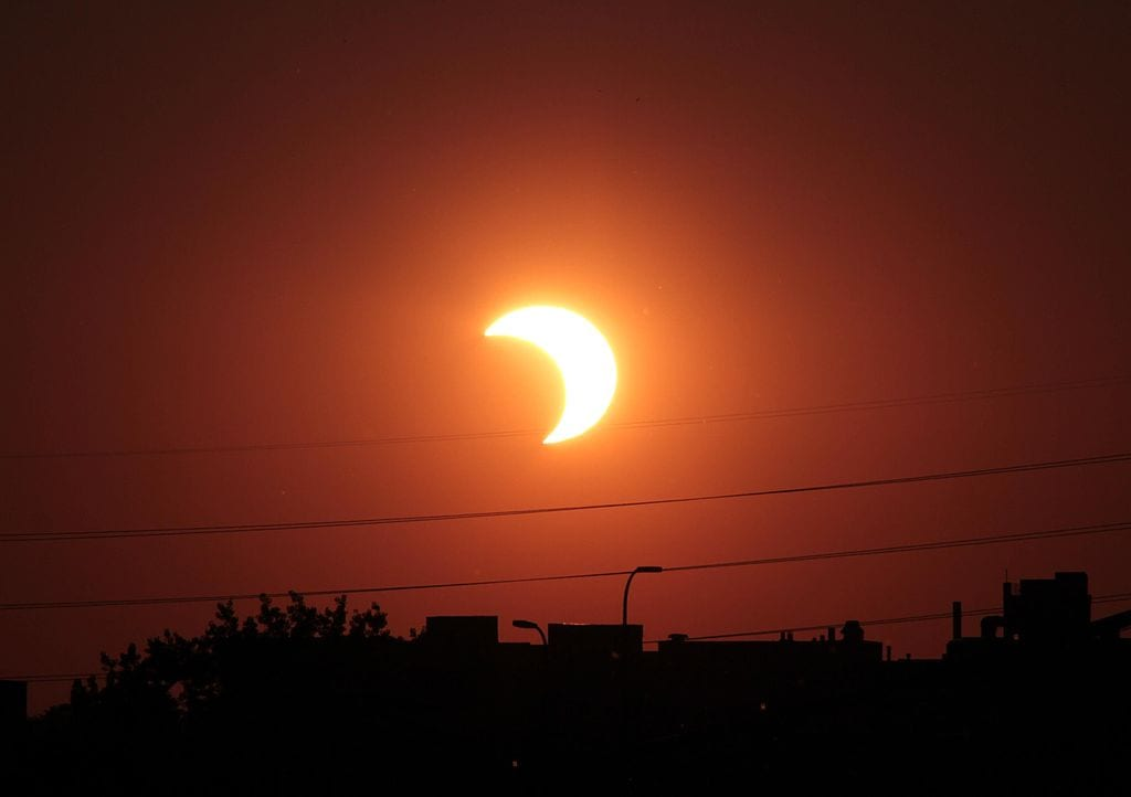 The Great American Eclipse in Baltimore - Monday, August 21 at 2:43 PM